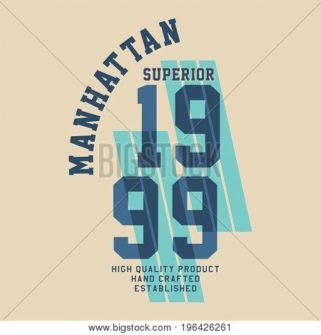 graphic design manhattan superior quality for shirt and print