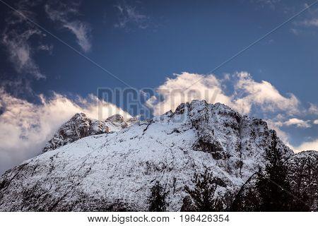 Autumn Evening In The Italian Alps