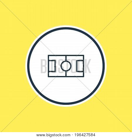 Beautiful Sport Element Also Can Be Used As Football  Element. Vector Illustration Of Field Outline.