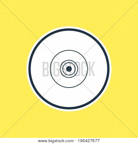 Vector Illustration Of Camera Lens Outline. Beautiful Laptop Element Also Can Be Used As Objective Element.
