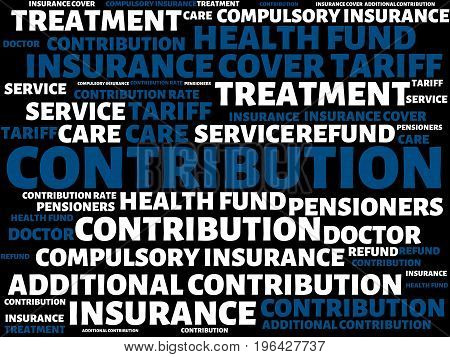 Contribution - Loss - Image With Words Associated With The Topic Health Insurance, Word, Image, Illu