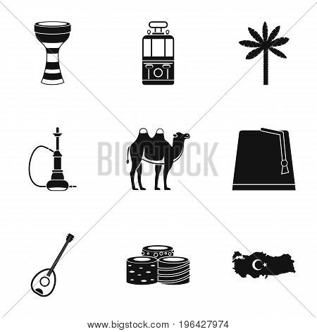 Ankara map icons set. Simple set of 9 Ankara map vector icons for web isolated on white background