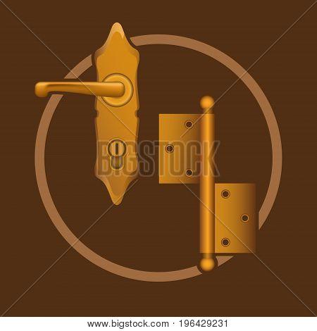 Golden door accessories vector elements or logo
