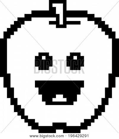 Smiling 8-bit Cartoon Apple