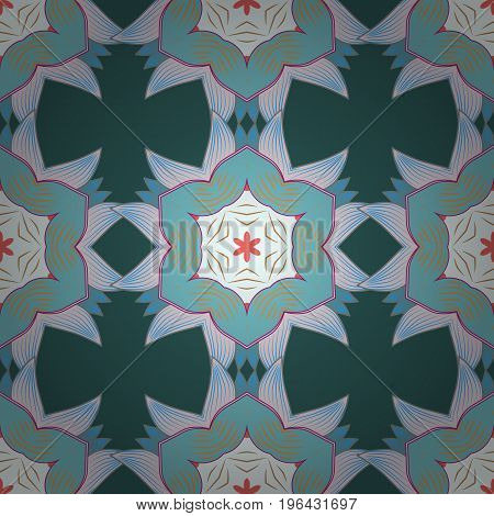 Vector abstract pattern. Hand-drawn colored mandala on a colorful background.