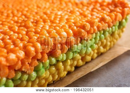 Rice crispy treats, closeup