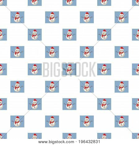 Hiking tent pattern seamless repeat in cartoon style vector illustration