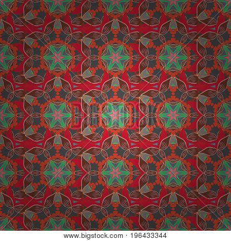 Decorative Indian Round Mandala on colorful background. Christmas Card Mandala Design. Vintage pattern. Islam Arabic Indian Turkish Pakistan. Colored over. Invitation Card Scrapbooking.