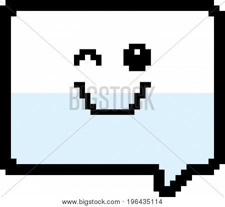 Winking 8-bit Cartoon Word Balloon