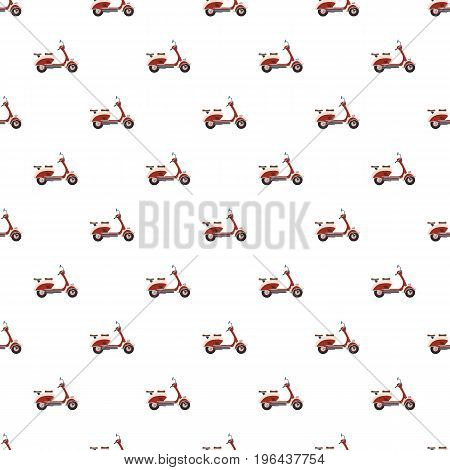 Scooter motorbike pattern seamless repeat in cartoon style vector illustration