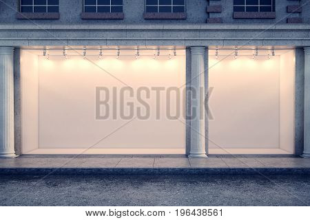 Clear Storefront At Night