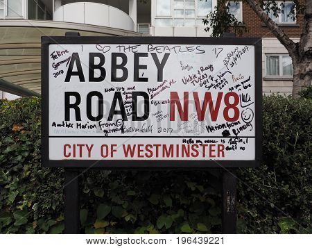 Abbey Road Sign In London