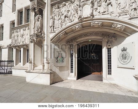 Supreme Court In London