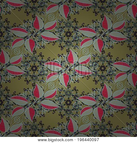 Cute leaves pattern with background. Colour Spring Theme seamless pattern Background. Flat Leaf Elements Design. Vector Fashionable fabric pattern.