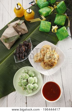 Top view malaysia traditional food