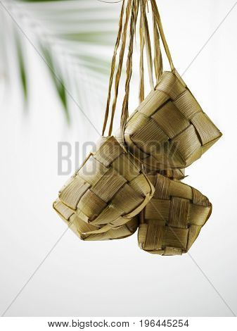 ketupat with the coconut tree