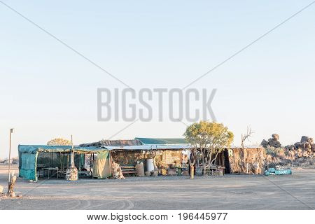 GARAS NAMIBIA - JUNE 13 2017: View of the Garas Park Rest Camp near Keetmanshoop next to the B1-road to Mariental