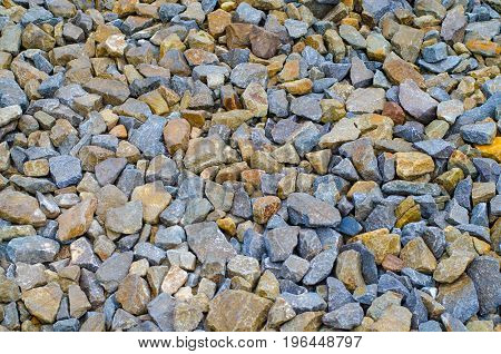 Beautiful texture many crushed stone for background