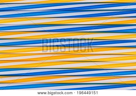 Background stripes multicolored smoothies plastic cocktail straws