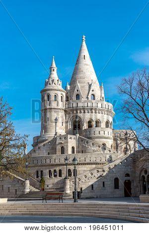 Fishermans Bastion, Buda castle in Budapest, Hungary