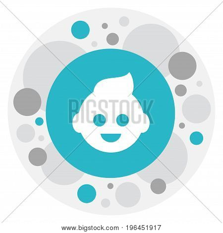 Vector Illustration Of Relatives Symbol On Kid Icon