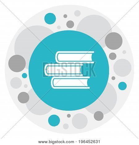 Vector Illustration Of Education Symbol On Books Icon