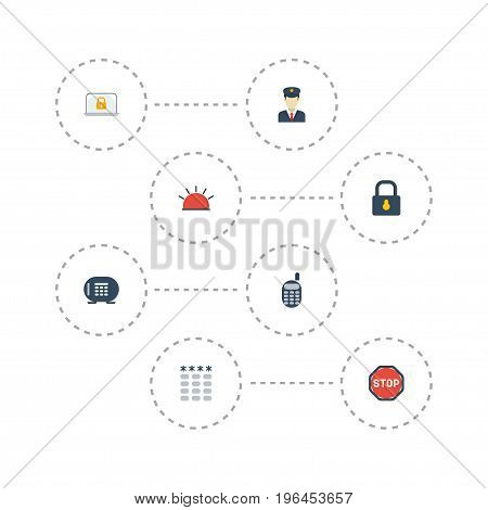 Flat Icons Lock, Safe, Padlock And Other Vector Elements