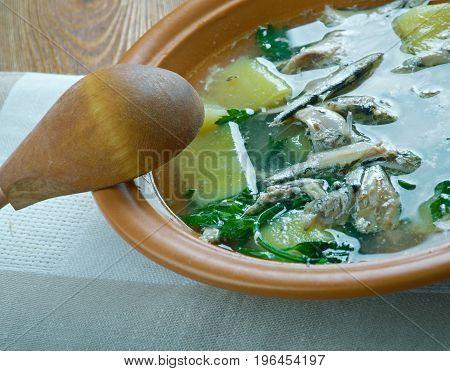Keski-Suomen rantakala - Finnish fish soup of whitefish close up meal
