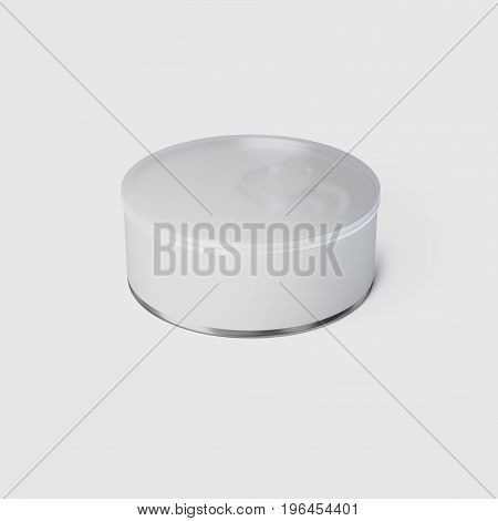 3D Rendering of labeled Tin Can with cup