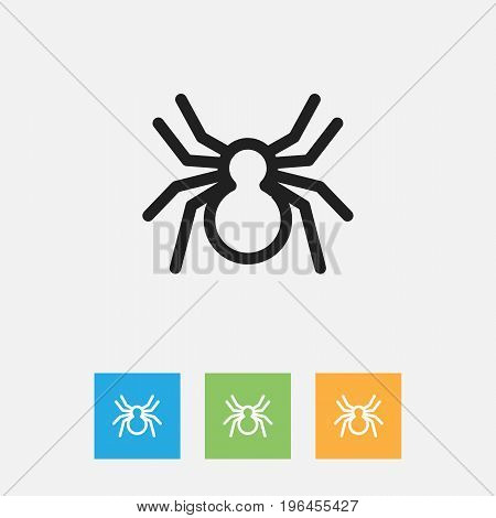 Vector Illustration Of Animal Symbol On Arachnid Outline