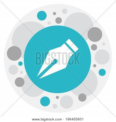 Vector Illustration Of Education Symbol On Ink Pen Icon