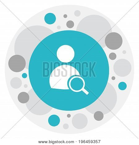 Vector Illustration Of Office Symbol On Find Employee Icon