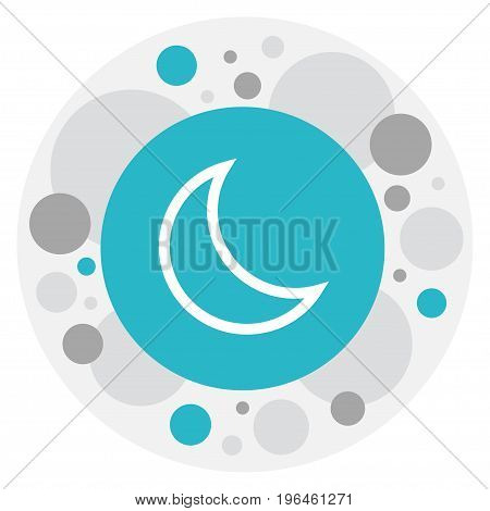 Vector Illustration Of Weather Symbol On Crescent Icon