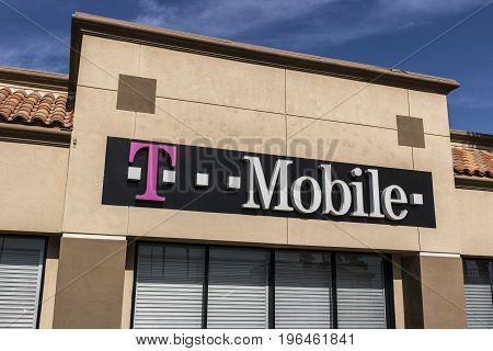 Las Vegas - Circa July 2017: T-Mobile Retail Cellular Wireless Store. Deutsche Telekom is T-Mobile's majority shareholder IX