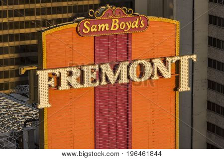 Las Vegas - Circa July 2017: Fremont Hotel and Casino. The Fremont opened in 1956 and was the tallest building in the state of Nevada I