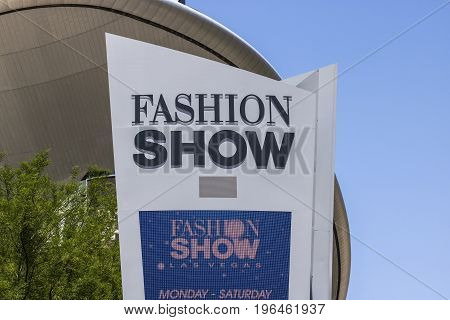 Las Vegas - Circa July 2017: Fashion Show Mall on the Las Vegas Strip. With over 250 stores Fashion Show Mall is a travel destination I