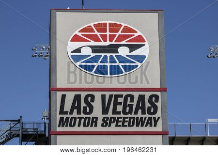 Las Vegas - Circa July 2017: Las Vegas Motor Speedway. LVMS hosts NASCAR and NHRA events including the Pennzoil 400 I