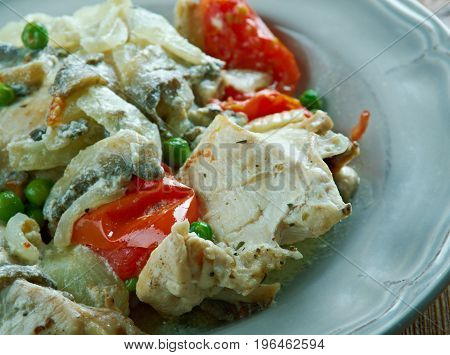 Chicken Fricassee  Style Of Alsace