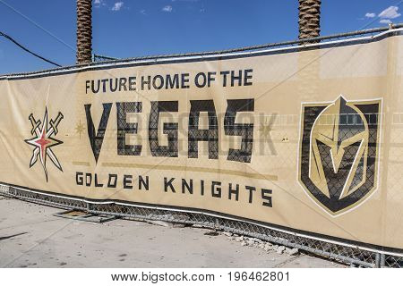 Las Vegas - Circa July 2017: Vegas Golden Knights new practice facility The Knights are the latest NHL expansion team and will begin play in 2017 I