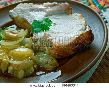 Pork Loin In Mustard Honey Sauce