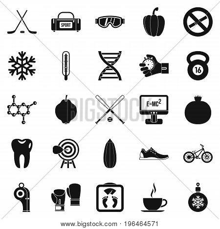 Without bad habbits icons set. Simple set of 25 without bad habbits vector icons for web isolated on white background