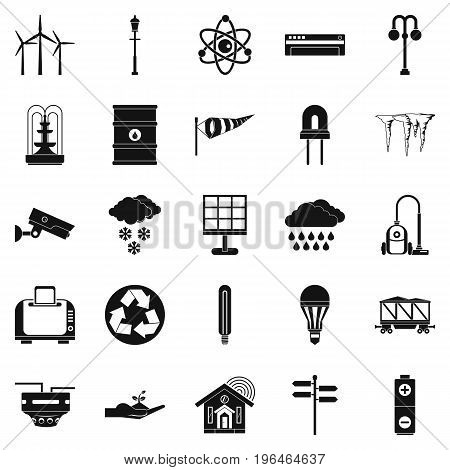 Urban icons set. Simple set of 25 urban vector icons for web isolated on white background