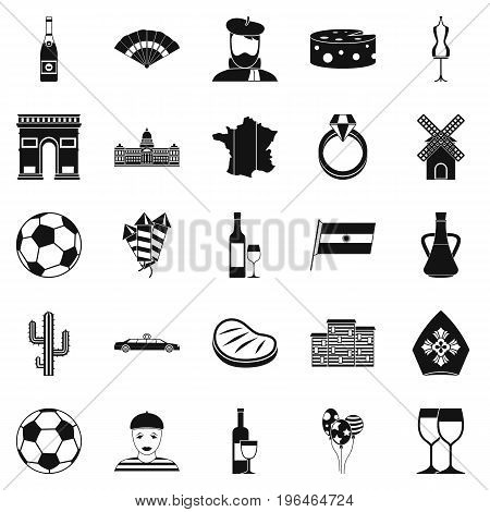 Spree icons set. Simple set of 25 spreel vector icons for web isolated on white background