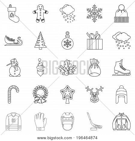 Stuff icons set. Outline set of 25 stuff vector icons for web isolated on white background