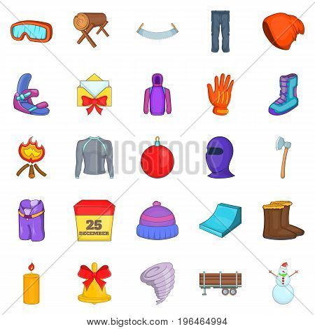 Sportswear icons set. Cartoon set of 25 sportswear vector icons for web isolated on white background