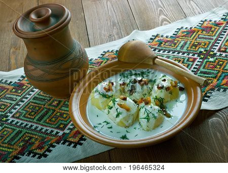 Milk Product Guslyanka With Potatoes