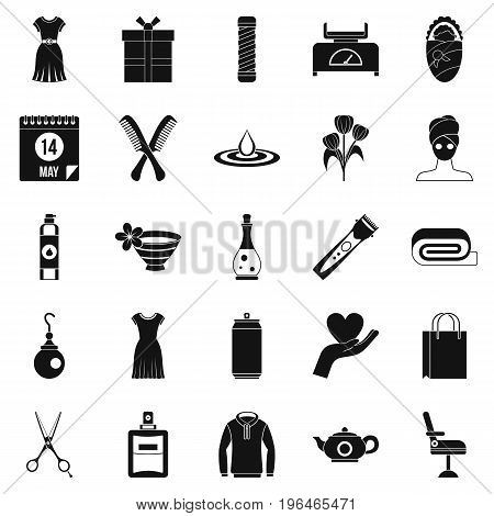 Recreation icons set. Simple set of 25 recreation vector icons for web isolated on white background