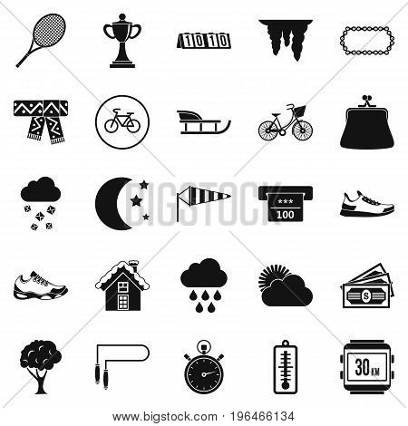 Winter holidays icons set. Simple set of 25 winter holidays vector icons for web isolated on white background