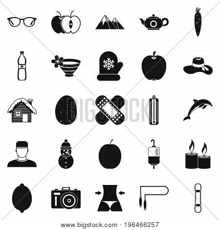 Recovery of health icons set. Simple set of 25 recovery of health vector icons for web isolated on white background