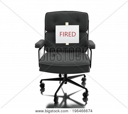 3D Office Chair Whit